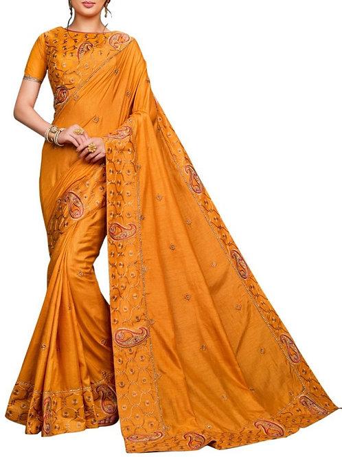 Breathtaking Yellow Buy Silk Sarees Online