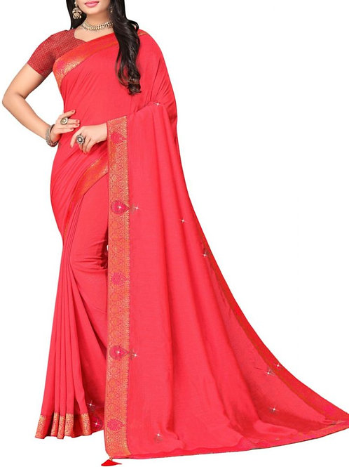 Majestic Red Beautiful Sarees Online