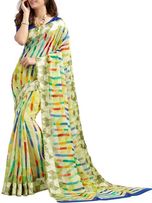 Fascinating Green Color Latest Designer Sarees Online