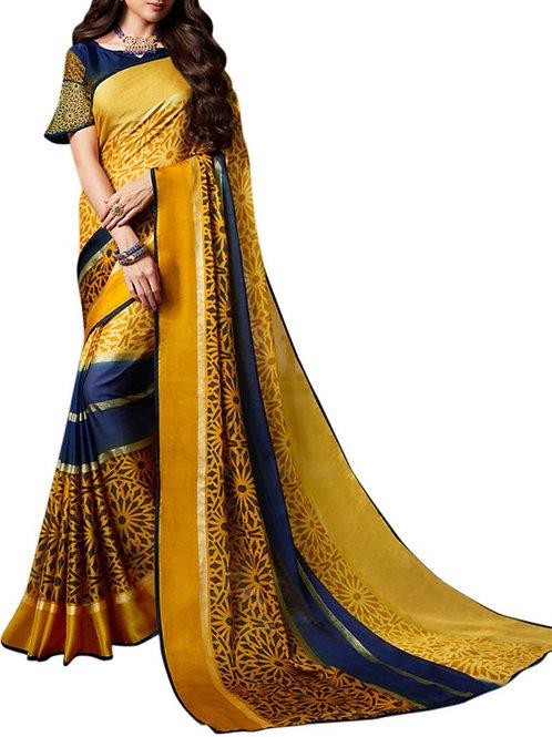 Impressive Yellow Color Latest Saree Collection