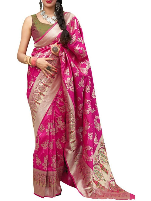 Astonishing Pink Bridal Sarees With Price
