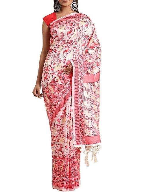 Astonishing White Best Online Saree Shopping Sites
