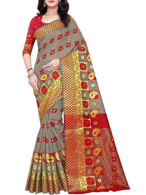 Astounding Silver Designer Sarees For Wedding