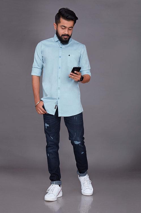 Sky Blue Shirt Fully Sleeve