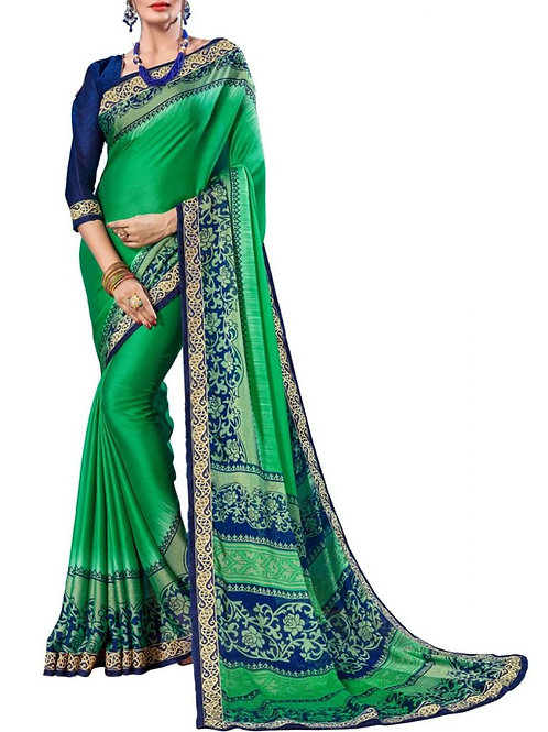 Alluring Green Color Sarees Online Sale Price