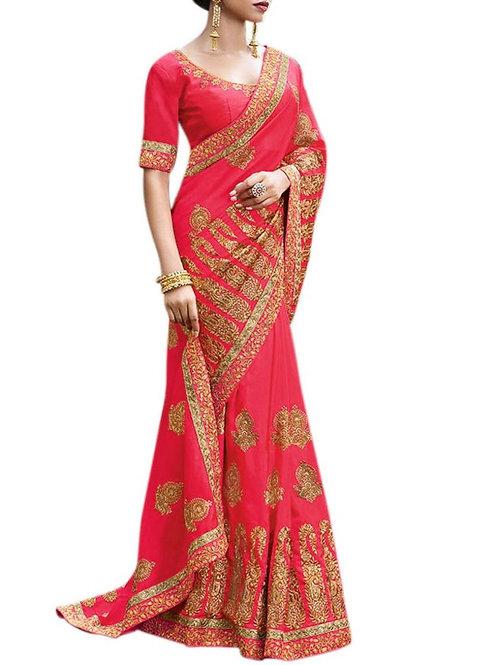 Moving Rani Pink Fancy Saree Online Shopping