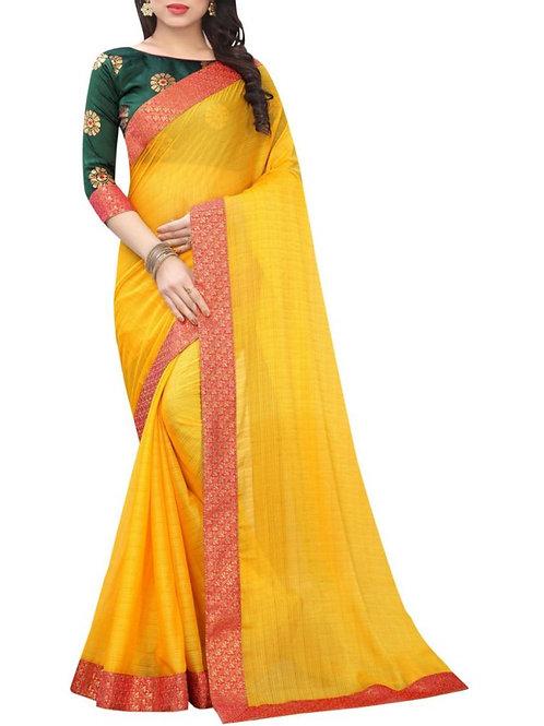 Glorious Yellow Online Saree Shopping Sites