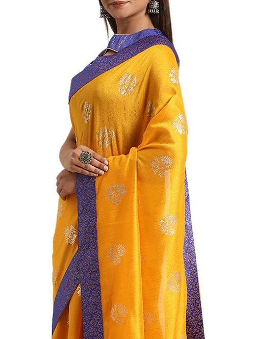 Charming Yellow Silk Sarees