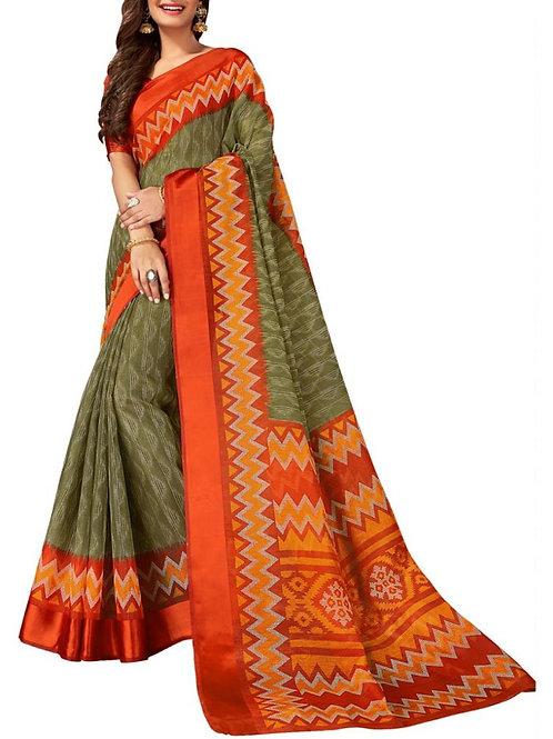 Dashing Mehendi Green Color Indian Traditional Sarees Online Shopping