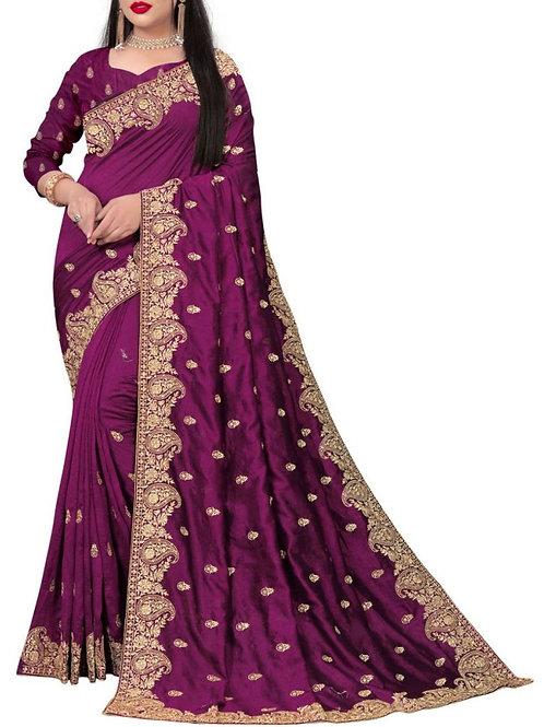 Fabulous Purple Ladies Saree