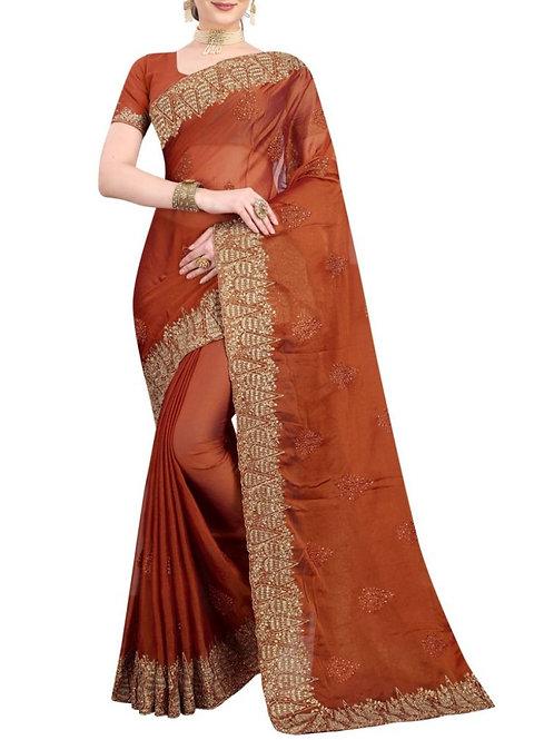 Enticing Copper Saree Collection