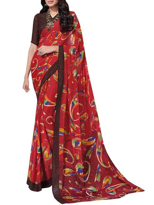 Amazing Red Latest Saree Designs