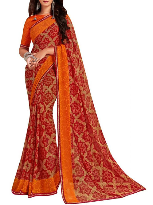 Bright Red Fashion Sarees Online