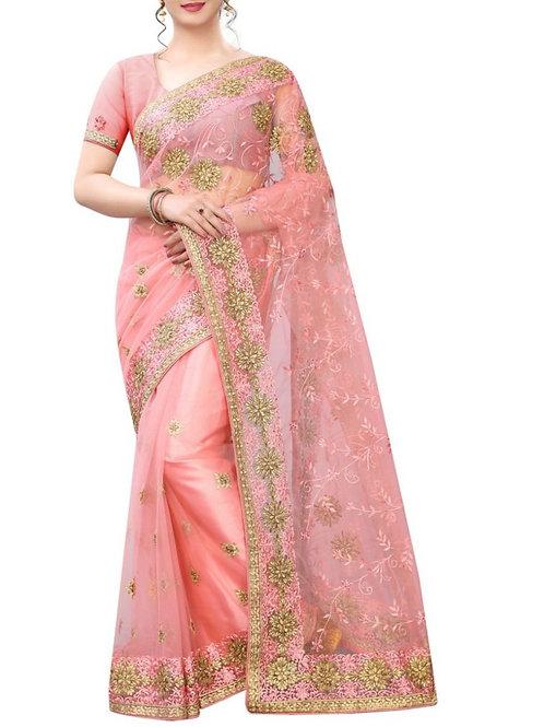Great Light Pink Buy Designer Fancy Sarees