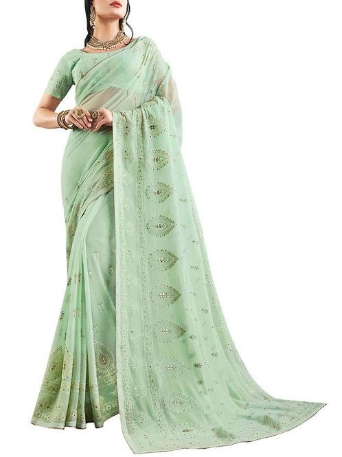 Graceful Light Green Women Saree