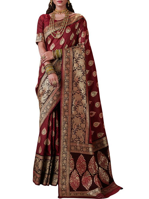 Eye-Popping Maroon Color Latest Sarees With Price