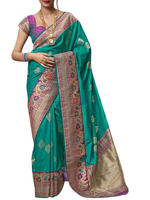 Exquisite Rama Best Designer Sarees