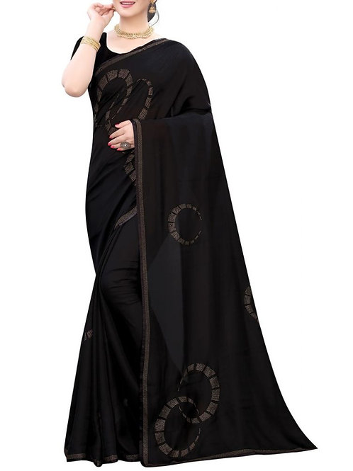 Glorious Black Party Wear Sarees Collection