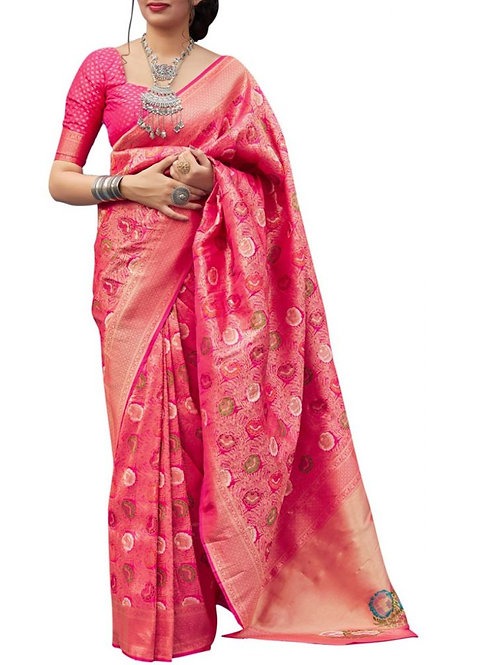 Lovely Pink Latest Sarees Online