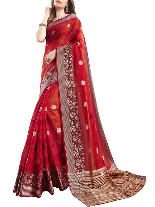 Captivating Red Color Buy Sarees Online Cash On Delivery