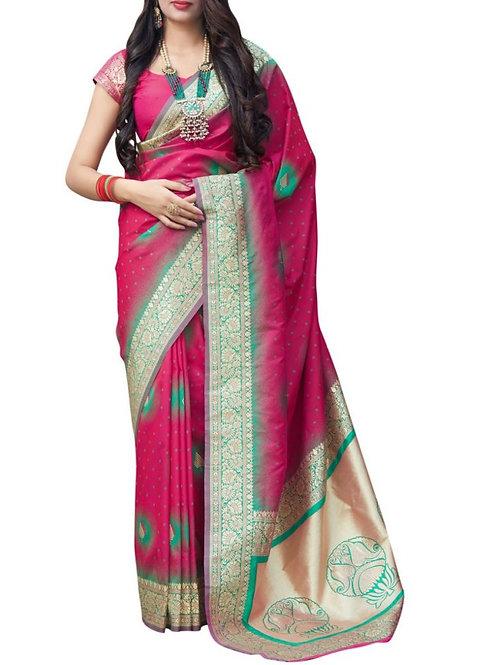 Effective Rani Pink Best Sarees Online