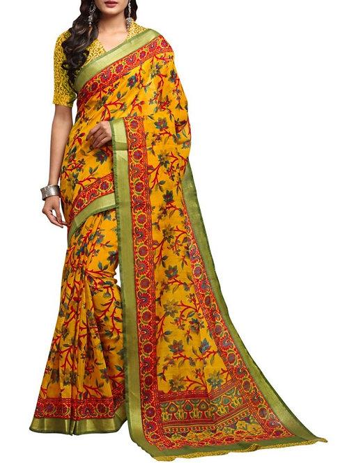 Fabulous Yellow Designer Saree