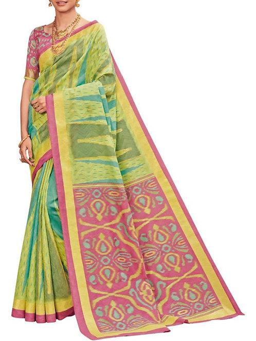 Pleasurable Green Indian Saree