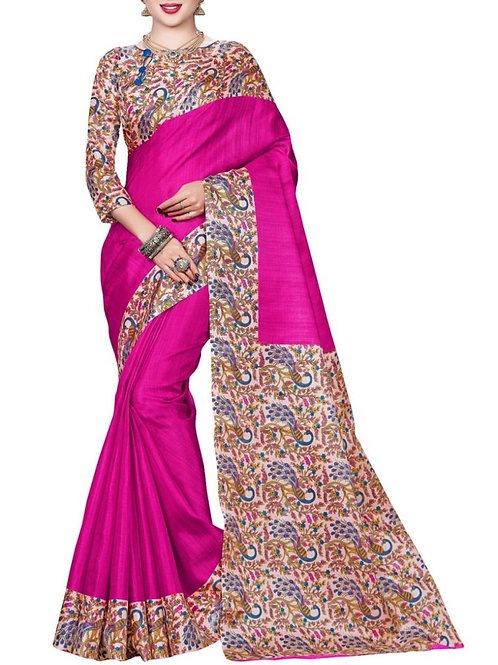Agreeable Pink Color Online Shopping Offers Sarees