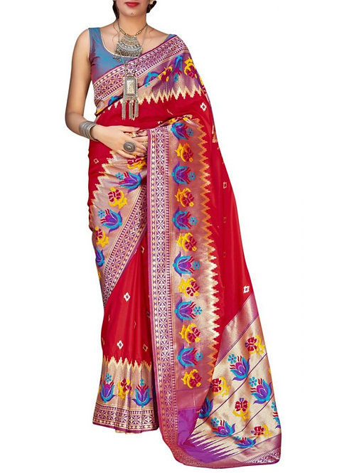 Attractive Red Latest Saree Collection