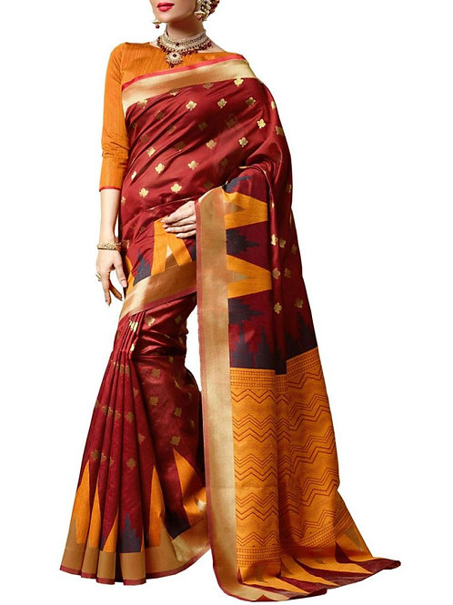 Majestic Maroon Color Designer Sarees For Wedding