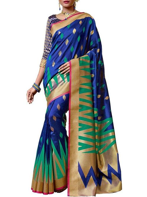 Presentable Blue Color Saree Models