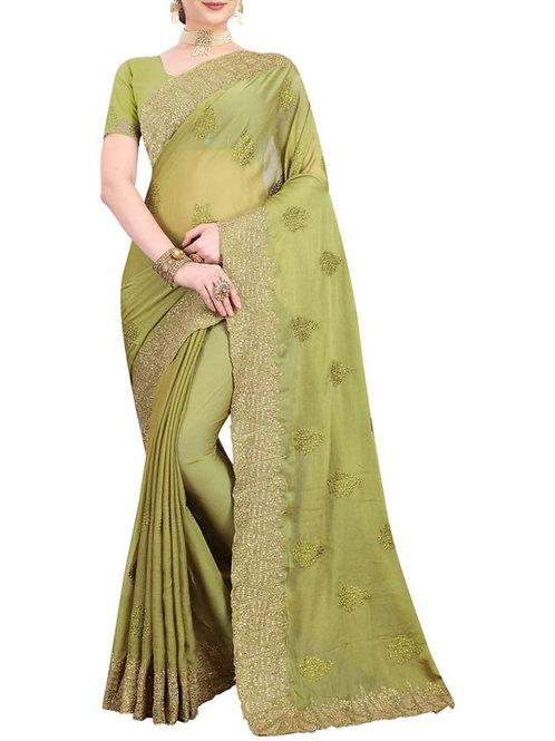 Enthralling Mehendi Online Saree Shopping