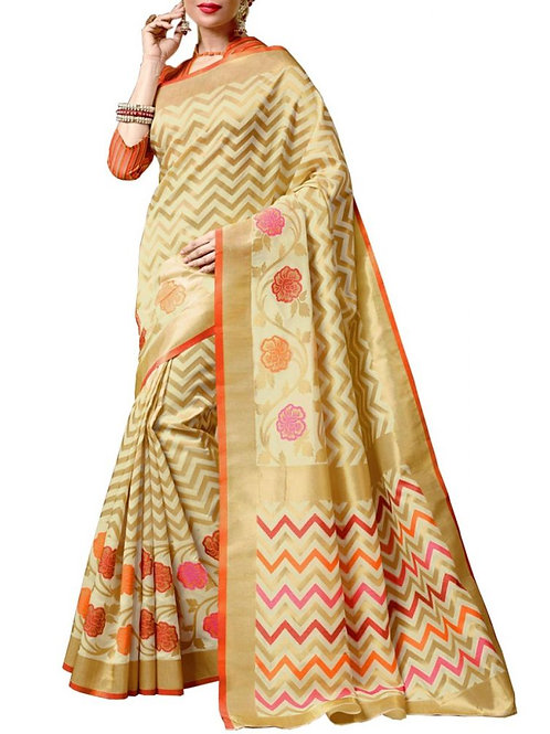Good-Looking Off white Color Traditional Sarees