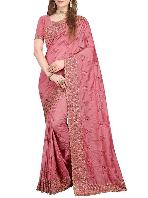 Charming Pink Saree Fashion