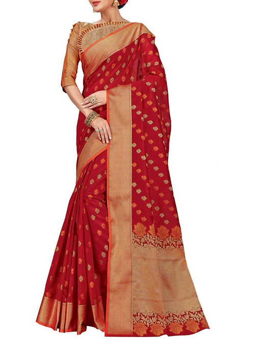 Delightful Maroon Color Good Sarees Online