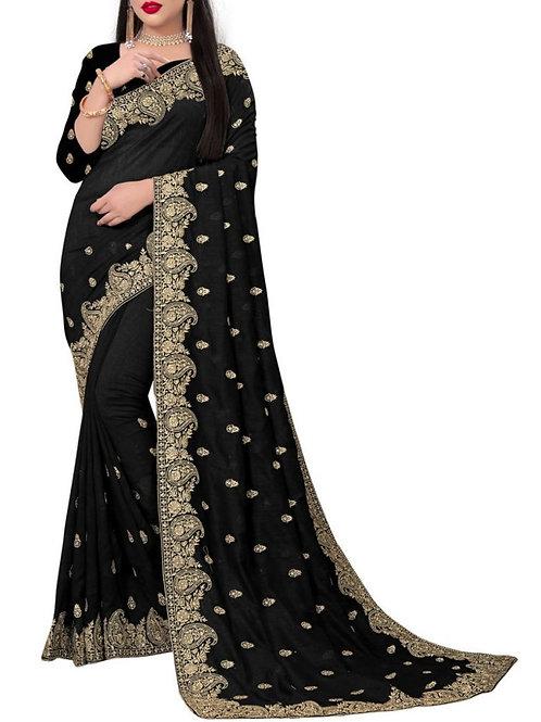 Smashing Black Latest Saree Design