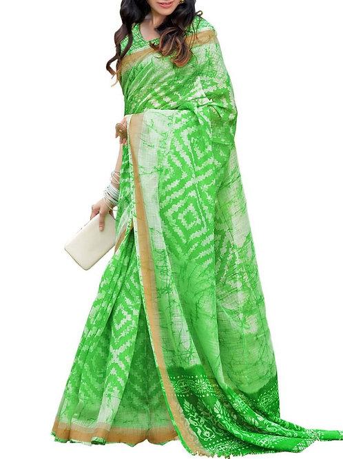 Sensational Light Green Color Indian Saree Shop