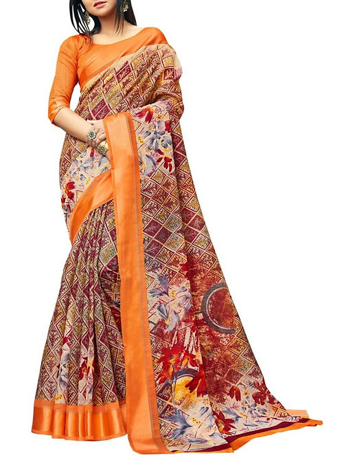 Great Maroon Color Bengali Saree