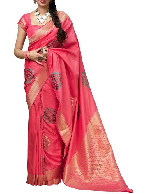 Bright Pink New Saree