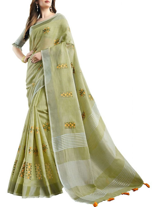 Lovely Yellow Green Color Indian Saree Collection With Price