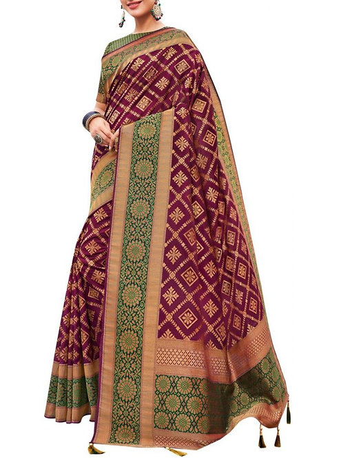 Lovely Wine Best Sarees In India