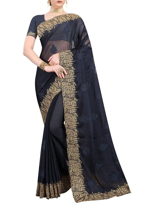 Pretty Blue Party Wear Sarees With Price