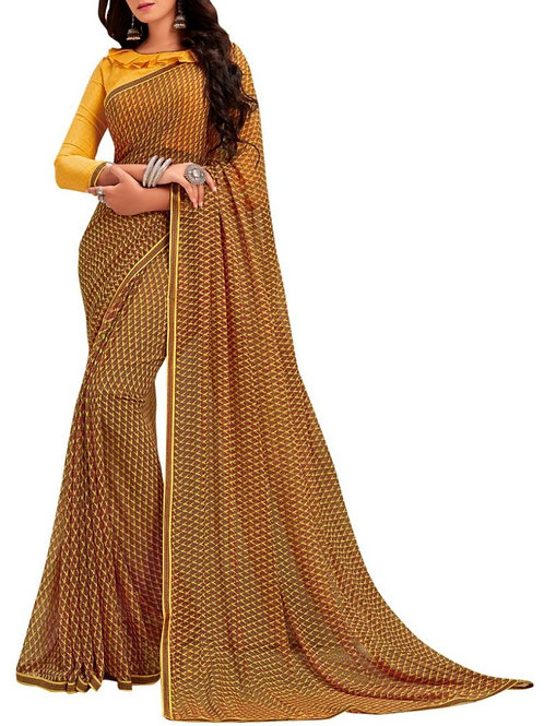Awesome Brown Formal Saree