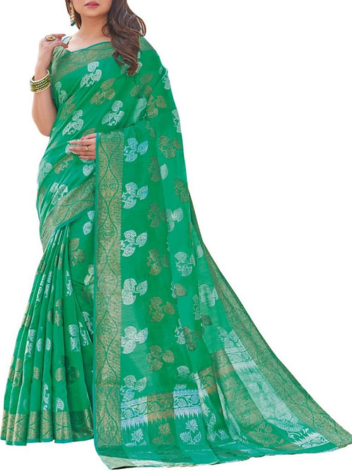 Sensational Green Color Saree Fashion