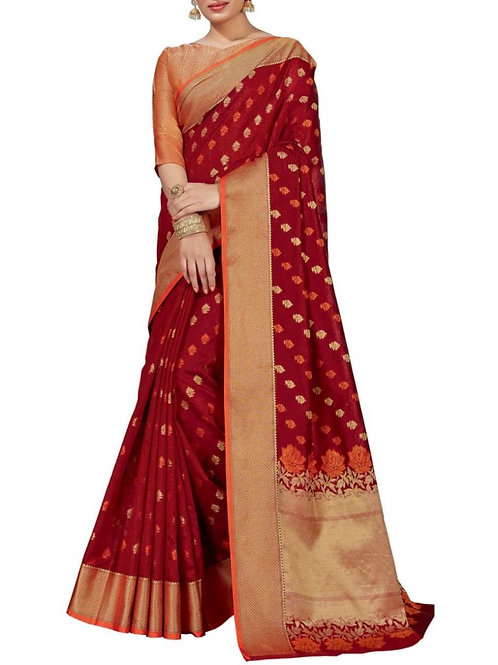 Attractive Maroon Color Buy Bollywood Sarees Online