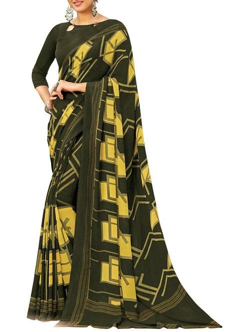 Enticing Mehendi Color Latest Saree Collection