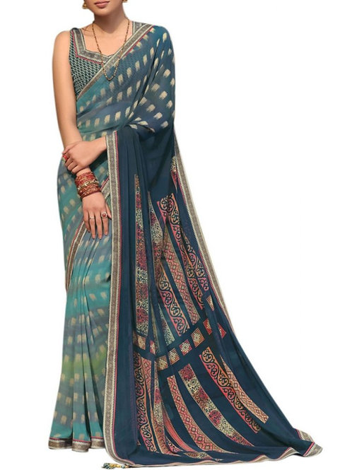 Blissful Multi Bollywood Sarees Online