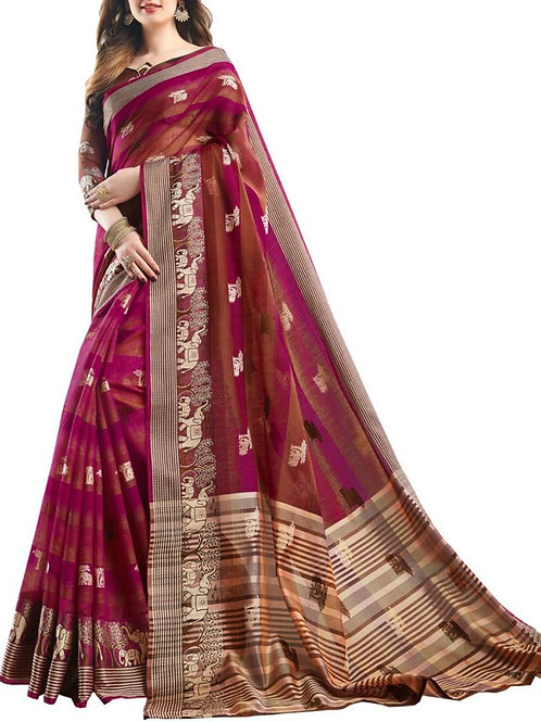 Agreeable Magenta Color Gorgeous Sarees Online Shopping