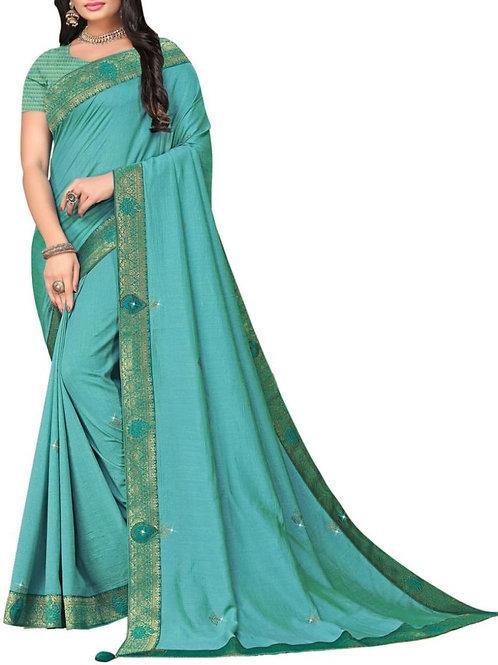Fascinating Blue Fancy Designer Saree