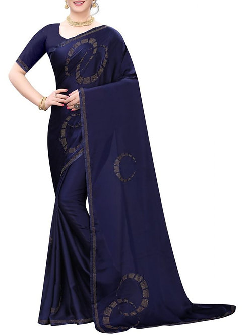 Dreamy Navy Blue Party Wear Sarees Online